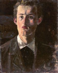 The Athenaeum - Self-Portrait (1892 - 1893) (Edvard Munch - )