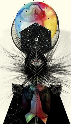 Image shared by Curioos. Find images and videos about art, illustration and digital art on We Heart It - the app to get lost in what you love. Art Visionnaire, Psy Art, Photocollage, Art Et Illustration, Inspiration Art, Visionary Art, Psychedelic Art, Grafik Design, Art Design