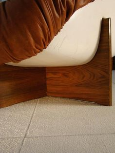 """Fine and Rare Percival Lafer Sofa in Leather, Fibreglass and Rosewood """"Brazil"""" 5"""