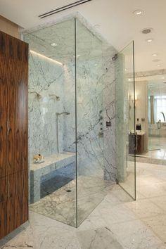 Douche italienne on pinterest italian bathroom showers for Bathroom ideas for 5x6