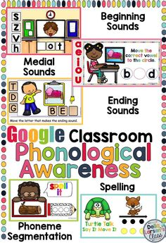 Building phonological and Phonemic awareness in emergent readers is crucial for their success in reading. One way to build phonemic awareness is to increase skills in phoneme segmentation, spelling, and identifying beginning, ending, and medial sounds. This resource is perfect for use during reading groups and word work in literacy centers. So Let's Go Google in our Literacy Centers!