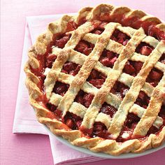 With our Strawberry Rhubarb Pie recipe it's so easy to make your own version of this classic favorite. Yum!