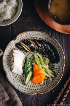 It's so EASY to make Japanese Pickles Tsukemono! This Shiozuke recipe requires just salt and fresh seasonal vegetables such as cucumber, carrots, daikon and eggplants! #japanesepickles #tsukemono #asianpickledvegetables | Easy Japanese Recipes at JustOneCookbook.com