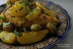 Chicken tajine with turnips and olives - culinary passion by Minouchka Potato Salad, Food And Drink, Potatoes, Meat, Chicken, Vegetables, Cooking, Ethnic Recipes, Passion
