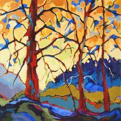"""Woods Creek Road"" - Original Fine Art for Sale - © Carolee Clark - www.dailypaintworks.com/fineart/carolee-clark/6d3ca306-94eb-4003-bc50-6473ca060e14"