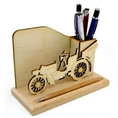 Penholder Cnc, Laser Cut Mdf, Laser Cutting, Laser Cutter Projects, Pencil Boxes, Diy Crafts For Gifts, Wood Gifts, Pen Case, Scroll Saw