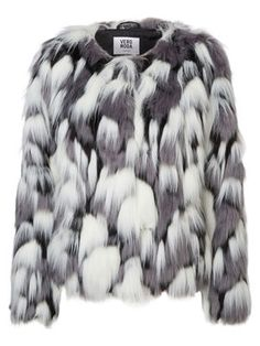 Designer Clothes, Shoes & Bags for Women Short Faux Fur Jacket, Magazine Mode, Fashion Essentials, Autumn Winter Fashion, Style Inspiration, Fur Coats, Outerwear Jackets, Monochrome, Women
