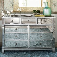 Superior Hayworth Mirrored Silver Dresser