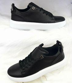 Heren Sneakers met Zwarte Details