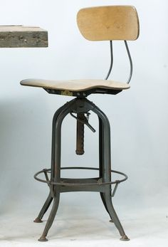 Toledo Metal Furniture Company - drafting stool