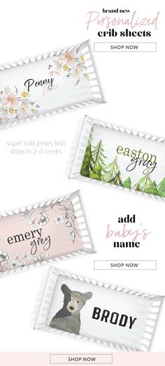 Adorable and super soft custom personalized baby name crib sheets are the perfect addition to any nursery! Baby Crib Sheets, Baby Cribs, Decorating Ideas, Decor Ideas, Craft Ideas, Nursery Modern, Before Baby, Baby Makes, Surnames