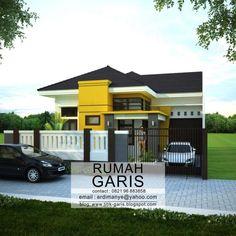 desain lengkap rumah 1 lantai tipe 120 di lahan 10×20 meter | Desain Rumah Garis My House Plans, Small House Plans, House Floor Plans, Ideal Home, Simple House, Home Fashion, Building Design, Architecture Design, House Design