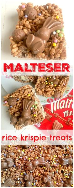 Ridiculously good Malteser Chocolate Rice Krispie Cakes - like your favourite chocolate Rice Krispie Treat but with added Malteser goodness! Great no-bake Easter recipe baking Malteser Chocolate Rice Krispie Cakes Chocolate Rice Krispie Cakes, Cake Chocolate, Chocolate Chips, Easter Chocolate, Chocolate Lovers, Baking Recipes, Dessert Recipes, Fudge Recipes, Candy Recipes
