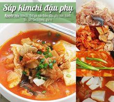 Món ăn lạ miệng, ngon cơm súp kimchi đậu phụ - http://congthucmonngon.com/50998/mon-la-mieng-ngon-com-sup-kimchi-dau-phu.html