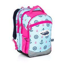Morski świat na plecaku dla dziewczynek CHI 802 H - Pink do 1-4 klasy szkoły podstawowej.