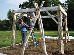 Building garden structure... This would be so pretty at the lake.