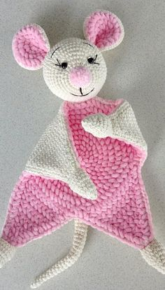 Items similar to Cuddle and play mouse crochet baby blanket, props for newborns on Etsy handmade Comforter toys children kids for crumbs soft toy mouse crochet crochet handmade Christmas b Crochet Security Blanket, Crochet Lovey, Crochet Mouse, Crochet Blanket Patterns, Baby Blanket Crochet, Free Crochet, Knitted Baby, Handmade Toys, Etsy Handmade