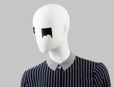 FUSION Collection by More Mannequins #FemaleMannequins #mask #blackandwhite #liquid #collar