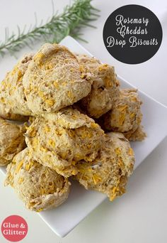 Rosemary Cheddar Drop Biscuits - These rosemary cheddar drop biscuits came out perfectly, and I can't wait to make my next batch!