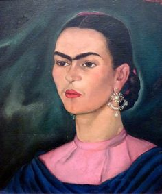 Frida Kahlo.  Painted in 1936 by Roberto Montenegro (1887-1968)  Earrings to adore.