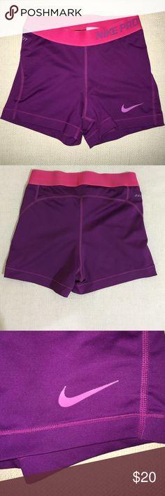 Nike Pro spandex Nike Pro spandex with hot pink waist band (only worn twice) Nike Shorts