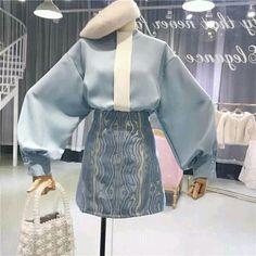 Ulzzang Fashion, Asian Fashion, Girl Fashion, Fashion Dresses, Fashion Design, Pretty Outfits, Cool Outfits, Casual Outfits, Korean Outfits