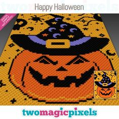 Two Magic Pixels - Beautiful graphs for crochet, cross stitch and other crafts - page 2 C2c Crochet Blanket, Afghan Crochet Patterns, Crochet Blankets, Crochet Afghans, Crochet Fall, Holiday Crochet, Crochet Cross, Crochet Gifts, Easy Crochet