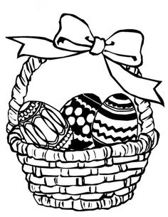 Easter Basket Drawings Happy Easter Pinterest Easter Colouring