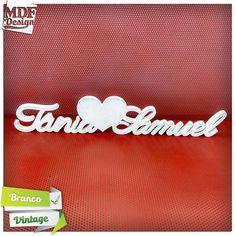 Nomes de Noivos com Coração em Acabamento Branco Vintage!!!! - http://ift.tt/29XdScI