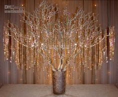 Wholesale Novelty - Buy 40Meters Hand Strung Acrylic Crystal Strands Garland for Wedding Centerpieces Wishes Tree Decoration Very Clear, $1.77 | DHgate