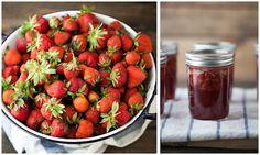 Canning: strawberry honey jam