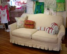 Country Cottage Furniture, Shabby Chic Overstuffed Floral Sofa; cool, comfy but over my budget