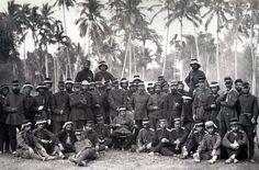 KNIL-officieren in Atjeh, 1874.