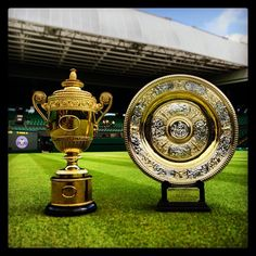 The Men's and Ladies Wimbledon Trophies
