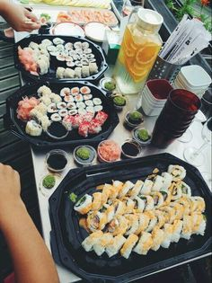 Sushi is life. I recommend a restaurant called Sushi Martini I Love Food, Good Food, Yummy Food, Fingers Food, Food Goals, Aesthetic Food, Food Cravings, Food Inspiration, Catering