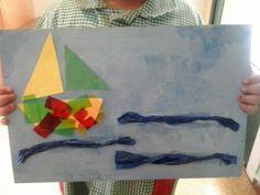 Cuadro mariñeiro feito polos nen@s.