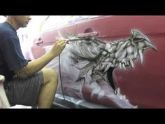 Airbrushed Evo X Dragon by Killer Kreations