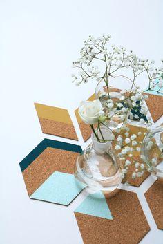 MY ATTIC / Diy cork coasters for Fashionista magazine   Photography: Marij Hessel