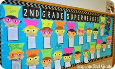 Step into 2nd Grade with Mrs. Lemons: Our First Day! I wanted to extend on their summer plans and incorporate our school theme of superheroes for an activity that I could display in the hallway. So, I called on all of my uber-talented teacher friends... and Deanna Jump came to my rescue! She made this cutie patootie superhero craft that was perfect for today! Here the link: http://www.teacherspayteachers.com/Product/Super-Hero-Craftivity-and-Writing-Templates-1409772