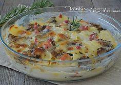 TORTINO DI PATATE con funghi e pancetta ricetta facile