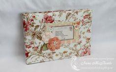Альбом для коллеги - женственный, весенний Album for collegue. Webster's Pages collections Postcards from Paris II. Fabric cover. Flowers. #scrapbooking #photoalbum #album #handmade #websterspages