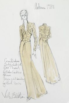 Victor Edelstein Fashion Sketches for Princess Diana up for auction in London! Princess Diana Dresses, Princess Diana Rare, Princess Diana Fashion, Princess Diana Pictures, Princess Margaret, Fashion Design Drawings, Fashion Sketches, Victor Edelstein, Spencer Family