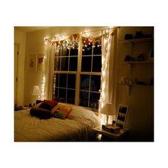 Christmas lights make everything better. Cozy Bedroom, Dream Bedroom, Bedroom Decor, Bedroom Ideas, Bed Lights, Hanging Lights, University Rooms, Awesome Bedrooms, Bedroom Lighting