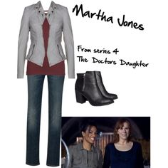 Martha Jones The Doctors Daughter Martha Jones, Doctor Who Outfits, Fandom Outfits, Clara Oswald Fashion, Doctor Who Series 4, Fifth Doctor, Jones Fashion, Donna Noble, Daughter