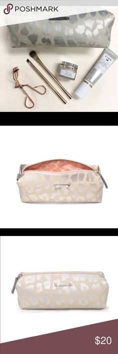 Stella & Dot Leopard Pouf Stella & Dot Leopard Pouf {New in Wrapping} Stella & Dot Bags Cosmetic Bags & Cases