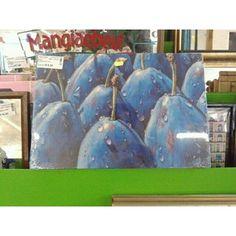 STAMPE FRUTTA PERE BLU CON GOCCIOLINE DI ACQUA ANCORA IMBALLATO | http://www.cesena.mercatinousato.com/oggettistica/stampe-frutta-/644312