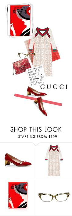 """Gucci"" by mponte ❤ liked on Polyvore featuring Gucci, GALA, Olympia Le-Tan and Alain Mikli"