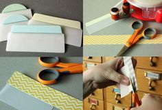 Cover tabs with washi tape .. Going to go do this now :)
