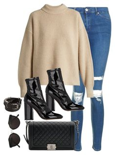 """""""Untitled #3153"""" by theaverageauburn on Polyvore featuring Topshop, The Row, Valentino, Chanel, Ann Demeulemeester and RetroSuperFuture"""