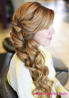 lange Braut-Frisuren für geflochtenes Haar 2015